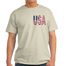 USA flag 2 Side Men's T-Shirt