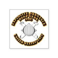 "Navy - Rate - EOD Square Sticker 3"" x 3"""