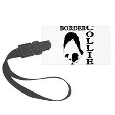Border Collie waiting-4a.png Luggage Tag