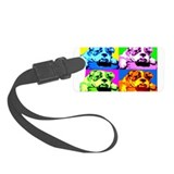 Bulldog Pop Art Luggage Tag
