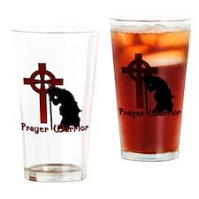 Prayer Knight Red Drinking Glass