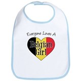 Everyone Loves Belgian Girl Bib