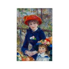 Renoir - Two Sisters Rectangle Magnet (10 pack)