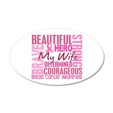 Tribute Square Breast Cancer 20x12 Oval Wall Decal