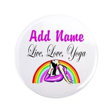 """I LOVE YOGA 3.5"""" Button (100 pack)"""