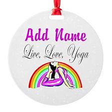 I LOVE YOGA Ornament
