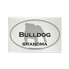 Bulldog GRANDMA Rectangle Magnet