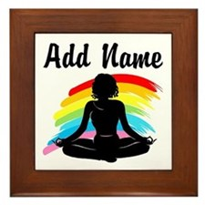 I LOVE YOGA Framed Tile