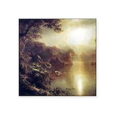 "Morning In The Tropics Square Sticker 3"" x 3"""
