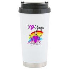 I LOVE YOGA Ceramic Travel Mug