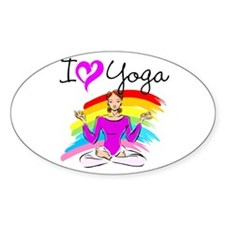 I LOVE YOGA Decal