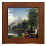 Thomas Cole Voyage Of Life Youth Framed Tile