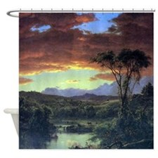 Frederic Edwin Church A Rural Home Shower Curtain