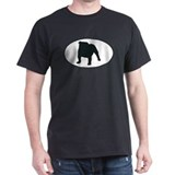 Bulldog Silhouette Black T-Shirt