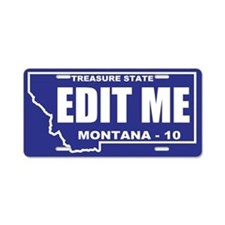 2010 Blue and white Montana outline custom plate