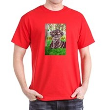 Chocolate Labrador by Jocelyn Triggle Dark T-Shirt