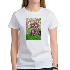 Chocolate Labrador by Jocelyn Triggle Women's T-Sh