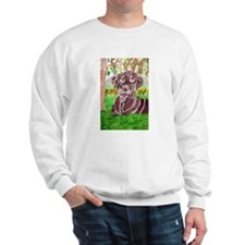 Chocolate Labrador by Jocelyn Triggle Sweatshirt