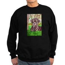 Chocolate Labrador by Jocelyn Triggle Sweatshirt (