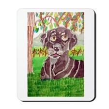 Chocolate Labrador by Jocelyn Triggle Mousepad