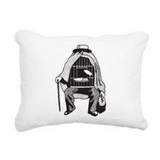 Bird Cage Man Rectangular Canvas Pillow
