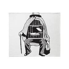 Bird Cage Man Throw Blanket