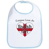 Everyone Loves English Girl Bib