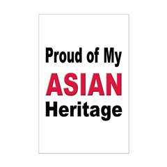 Proud Asian Heritage Mini Poster Print