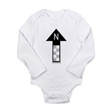 Archaeology north arrow Infant Creeper Long Sleeve
