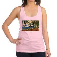 Paul Gauguin Beach Scene Racerback Tank Top