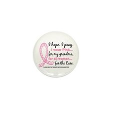 Hope Pray Wear Pink Breast Cancer Mini Button (10