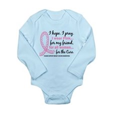 Hope Pray Wear Pink Breast Cancer Long Sleeve Infa