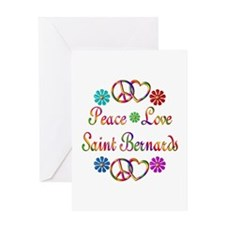 Saint Bernards Greeting Card