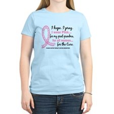 Hope Pray Wear Pink Breast Cancer T-Shirt