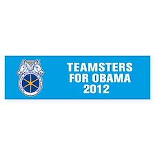 Teamsters For Obama Bumper Sticker