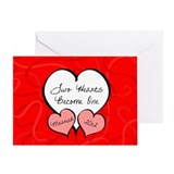 Red 2 Hearts Married 2012 Greeting Card