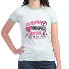 Peace Love A Cure For Breast Cancer T