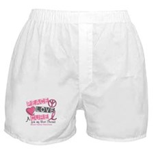Peace Love A Cure For Breast Cancer Boxer Shorts