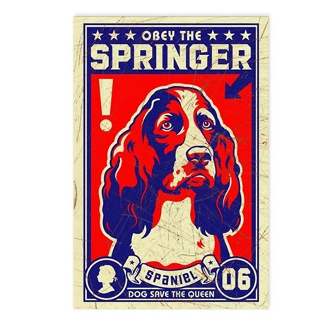 SPRINGER Spaniel! Postcards (Pack of 8)
