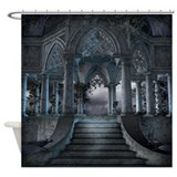 Gothic Mausoleum Shower Curtain