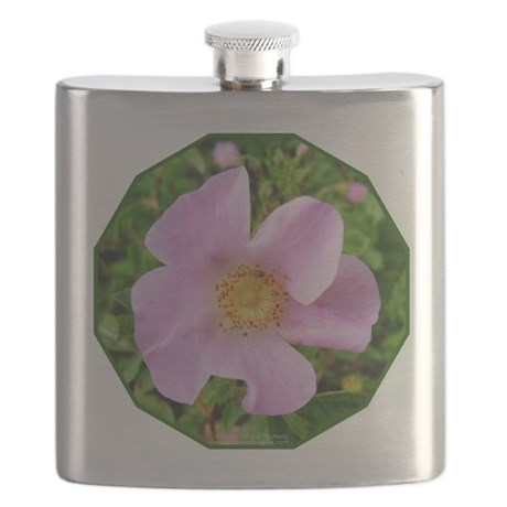 California Wild Rose Flask