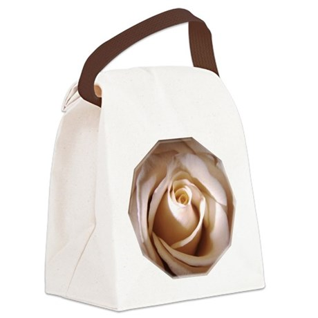 Ivory Rose Canvas Lunch Bag