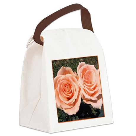 peachroses-shirt.jpg Canvas Lunch Bag