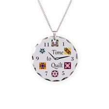 Cute Quilters Necklace Circle Charm