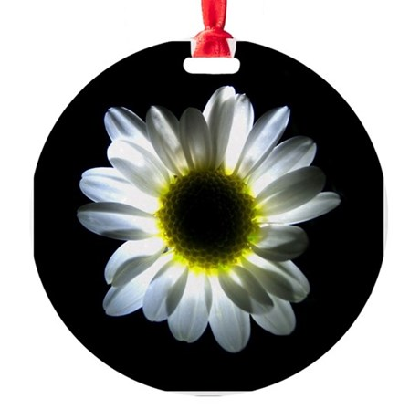 Illuminated Daisy Round Ornament