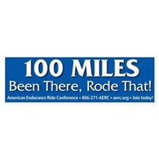 Bumper Sticker - 100 Miles