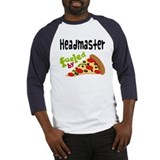 Headmaster Funny Pizza Baseball Jersey