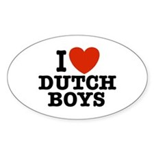 I love Dutch Boys Oval Decal