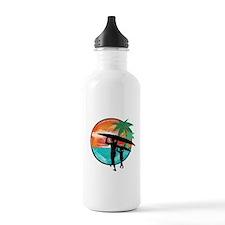 Retro Summer Time Fun Water Bottle