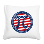 American Pi, Pie Square Canvas Pillow
